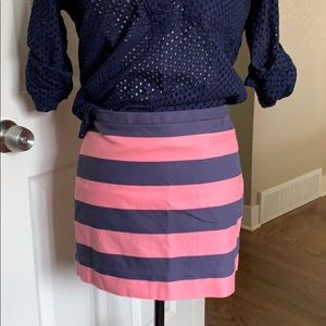 Gap mini skirt striped pink blue